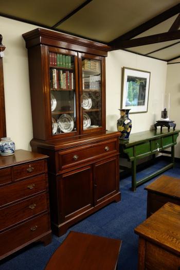 engelse bureau boekenkast