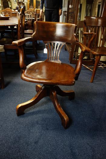 Draaibare Antieke Bureaustoel.Antieke Stoelen Heineman Antiek In Terschuur